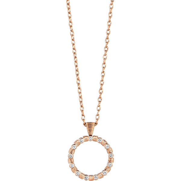 18kt Rose Gold Bars D'Or Pendant