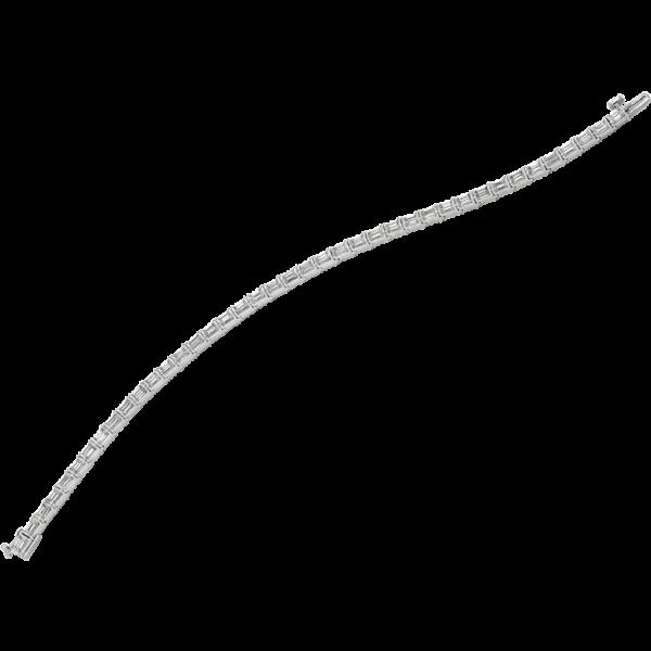 Platinum Gemlok Baguette Diamond Bracelet