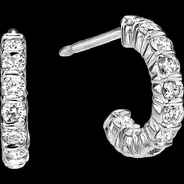 Platinum Gemlok Huggy Hoop