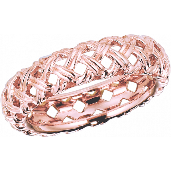 18kt Rose Gold Vannerie Band Ring