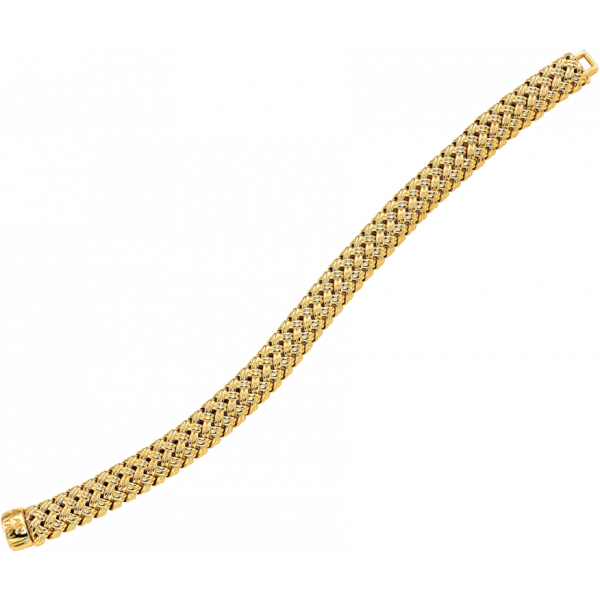 18kt Yellow Gold Vannerie Bracelet